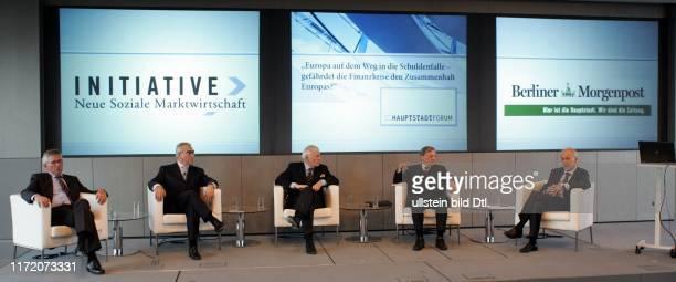 Hauptstadtforum Berliner Morgenpost Europa auf dem Weg zur Schuldenfalle gefährdet die Finanzkrise den Zusammenhalt Europas Dr Thilo Sarrazin Dr...