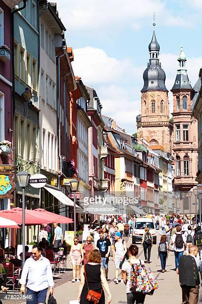 hauptstraße of heidelberg - hauptstraße stock pictures, royalty-free photos & images