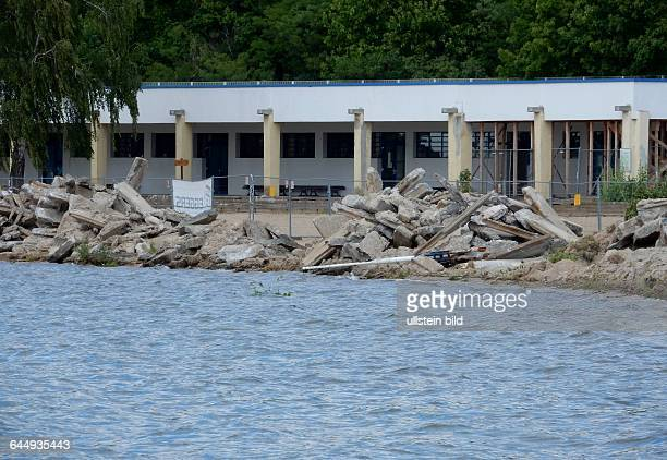 Hauptstrand Gesperrt Zum Sommeranfang ist das Areal um den Hauptstrand bis ca Ende Juli gesperrt Die marode Uferkannte wird abgerissen Beton wird...