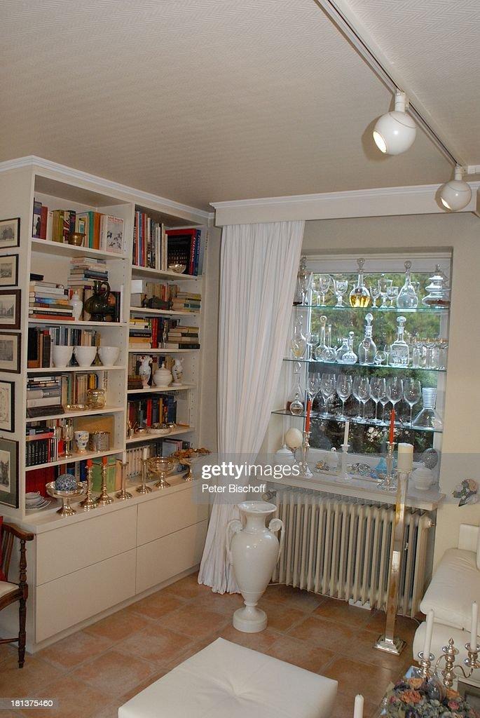 Haus Von Claus Biederstaedt Ehefrau Dr Barbara Homestory Kle - Weinregal wohnzimmer