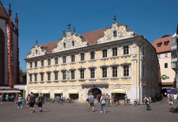 Haus zum Falken, Falkenhaus, Wuerzburg, Lower Franconia, Bavaria, Germany
