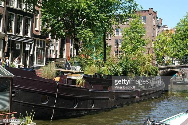 Hausboot am Grachtenkanal Amsterdam Niederlande Holland Europa Boot Gracht Kanal Reise BB DIG PNr 941/2005