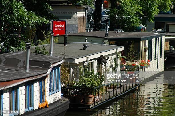 Hausboote am Grachtenkanal Amsterdam Niederlande Holland Europa Boot Gracht Kanal Reise BB DIG PNr 941/2005