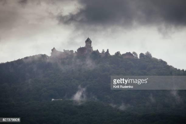 Haut Koenigsbourg castle in dramatic light