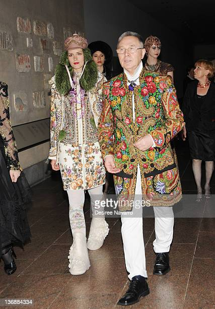 Haute Couture Designer Slava Zaitsev attends the 9th annual Russian Heritage Festival at The Metropolitan Museum of Art on June 9 2011 in New York...