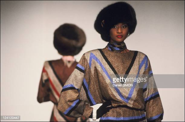 Haute Couture Fall Winter 1983 1984 fashion show in Paris France on July 26 1983 Dior collection