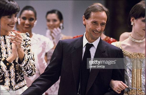 Haute Couture Spring Summer 1985 fashion show in Paris France in February 1985 Dior collection Marc Bohan