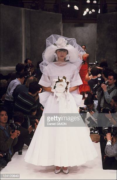 Haute Couture Spring Summer 1987 fashion show in Paris France in January 1987 Dior collection