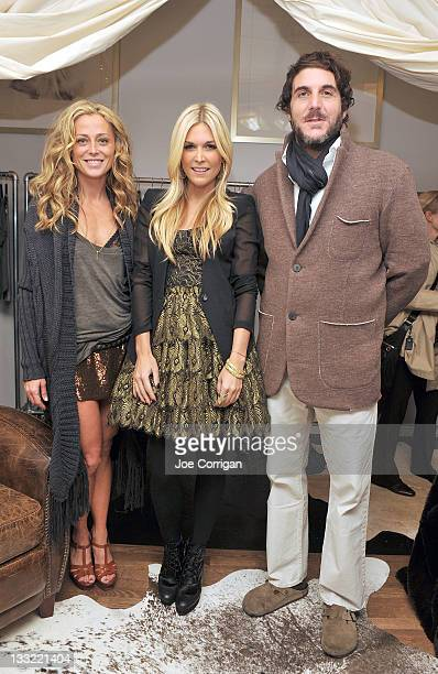 Haute Hippie designer Trish Wescoat Pound Socialite Tinsley Mortimer and Jesse Cole attend the Haute Hippie Launches Haute Hoodie party at 211...
