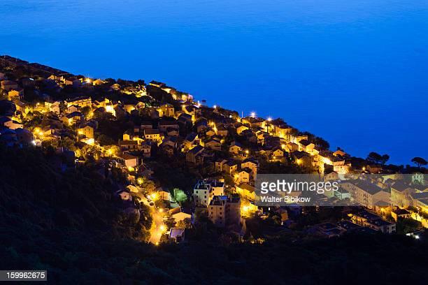 Haute-Corse, Corsica, Town View