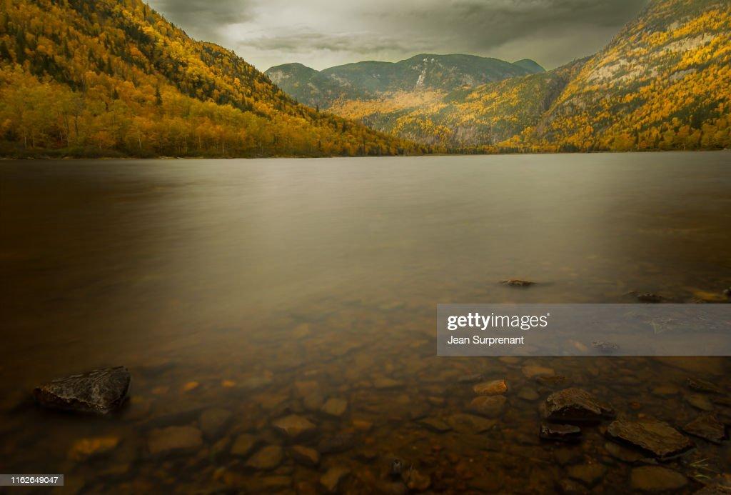 Hautes gorges riviere Malbaie DRI : Stock Photo
