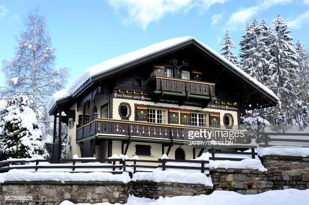 Haute-Savoie Pays du Mont-Blanc, Mege?ve, chalet//France, Haute-Savoie Country of Mont-Blanc, Mege?ve, chalet.