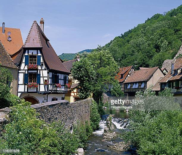 haut-rhin, alsace, kaysersberg, france - haut rhin stock pictures, royalty-free photos & images