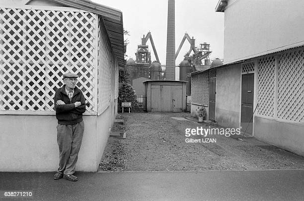 Hauts fourneaux à Hayange France en septembre 1978