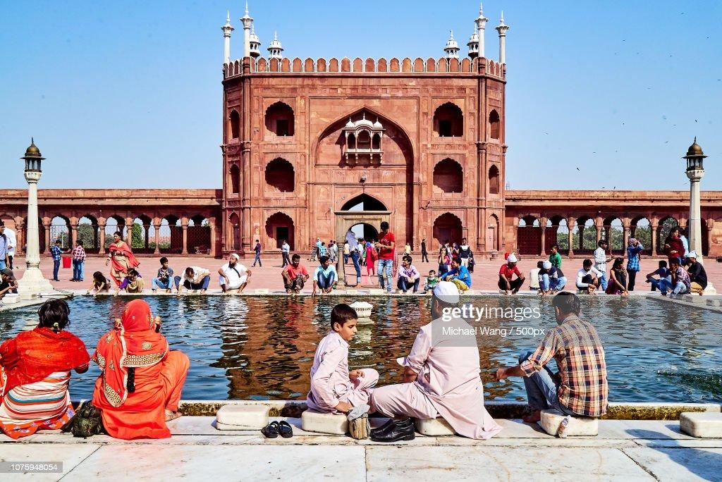 Hauz of Jama Masjid, Delhi : Stock Photo