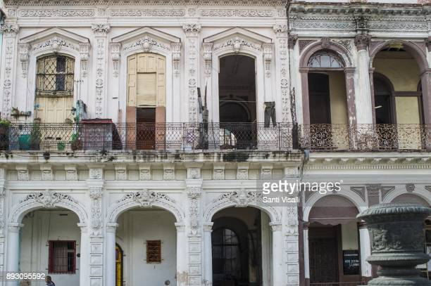 Havana architecture on November 10 2017 in Havana Cuba