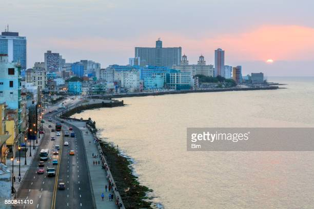 Havanna bei Sonnenuntergang, Kuba