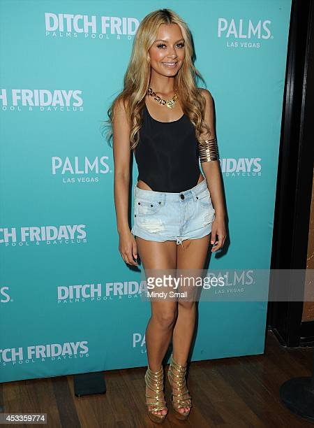 Havana Brown arrives at Ditch Fridays at the Palms Pool Dayclub on August 8 2014 in Las Vegas Nevada