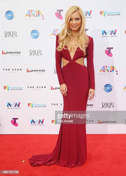 Havana Brown arrives for the 29th Annual ARIA Awards 2015 at The Star on November 26 2015 in Sydney Australia