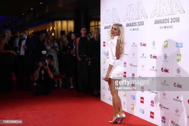 Havana Brown arrives for the 32nd Annual ARIA Awards 2018 at The Star on November 28, 2018 in Sydney, Australia.