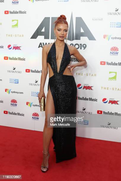 Havana Brown arrives for the 33rd Annual ARIA Awards 2019 at The Star on November 27, 2019 in Sydney, Australia.