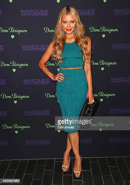 Havana Brown attends the Dom Perignon Masquerade Ball At Marquee Nightclub on August 2, 2014 in Sydney, Australia.