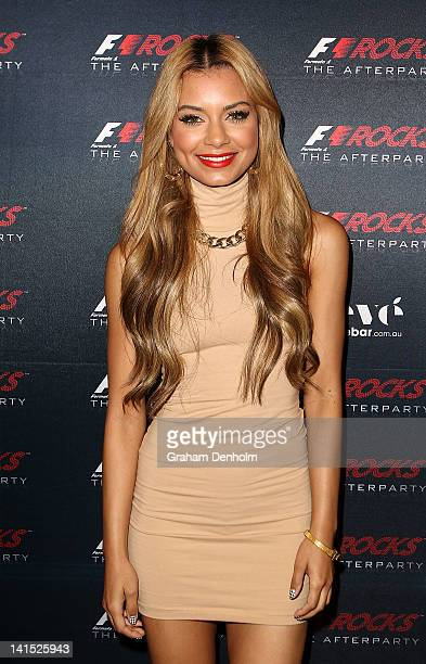 Havana Brown attends the F1 Rocks! Melbourne After Party at Eve Nightclub on March 17, 2012 in Melbourne, Australia.