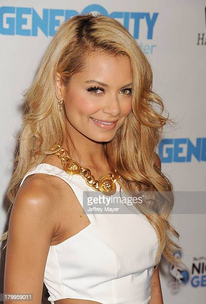 Havana Brown attends the Generosity Water's 5th annual night of Generosity benefit held at the Beverly Hills Hotel on September 6, 2013 in Beverly...