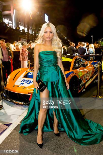 Havana Brown attends the Glamour on the Grid party at Albert Park on March 13 2019 in Melbourne Australia