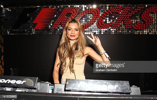 Havana Brown performs during the F1 Rocks Melbourne After Party at Eve Nightclub on March 17 2012 in Melbourne Australia
