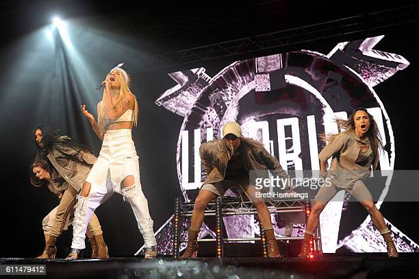 Havana Brown performs during the Nickelodeon Slimefest 2016 matinee show at Sydney Olympic Park Sports Centre on September 30, 2016 in Sydney,...