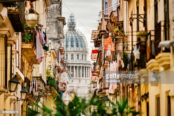 havana capitol building - old havana stock pictures, royalty-free photos & images