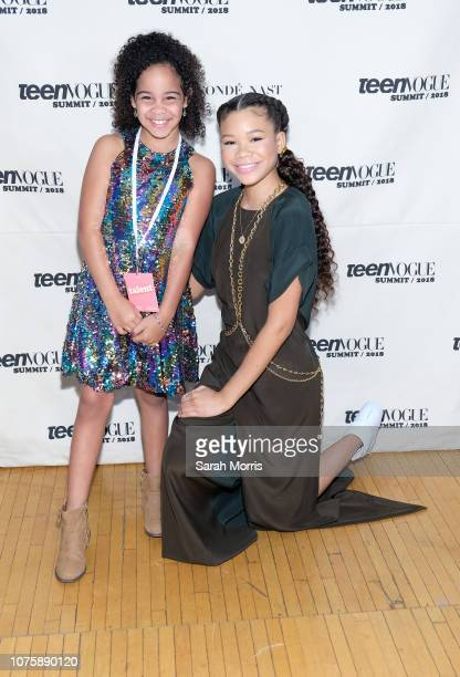 Havana Chapman-Edwards and Storm Reid attend the Teen Vogue Summit at 72andSunny on December 1, 2018 in Los Angeles, California.