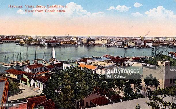 Havana, Cuba, early 20th century. As seen from Casablanca.