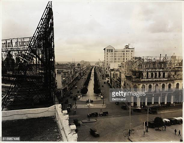 View of the Prado The tall white building is the Sevilla Biltmore Hotel Undated photograph