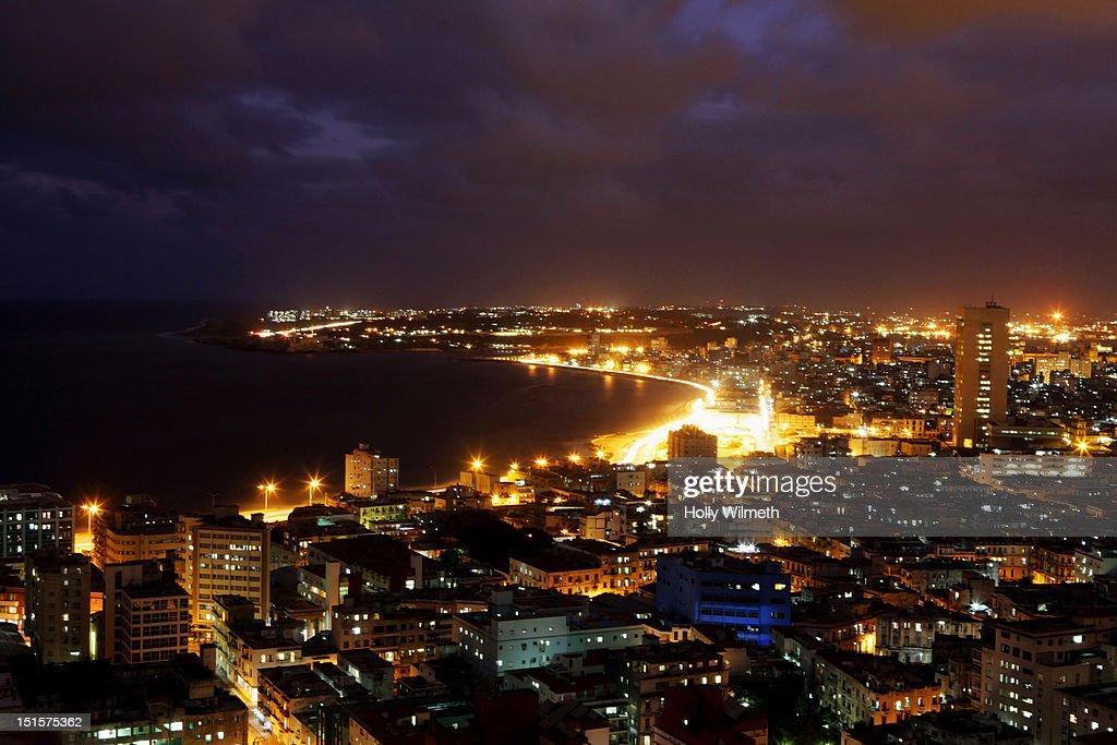 Havana Evening Landscape, Cuba. : Stock Photo