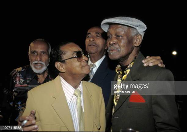 SALSA MUSIC CUBA Havana Ibrahim Ferrer singer with the Buena Vista Social Club with the late 'Puntillita' Ruben Gonzales and Cachao Taken in November...