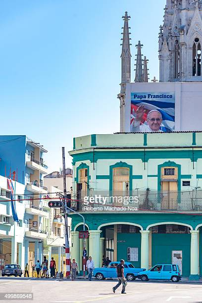 Havana prepares for Pope Francis visit billboardsposters and Cuban flags adorn the Cuban capital for the important religious visit Images taken a day...