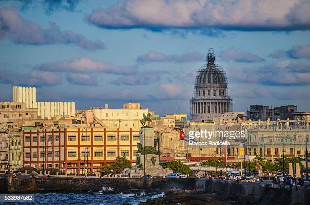 havana skyline at sunset, cuba. - radicella stock pictures, royalty-free photos & images