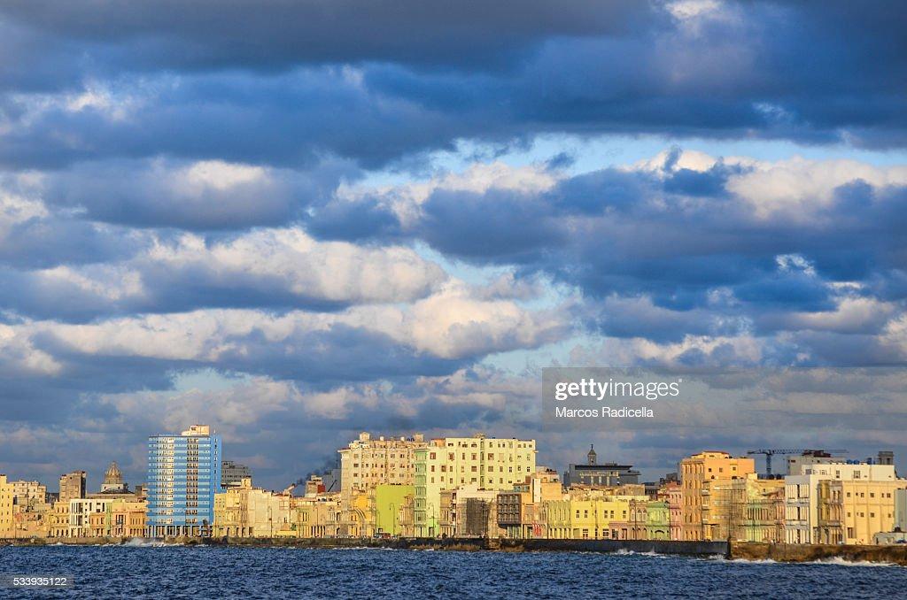 Havana skyline at sunset : Stock Photo