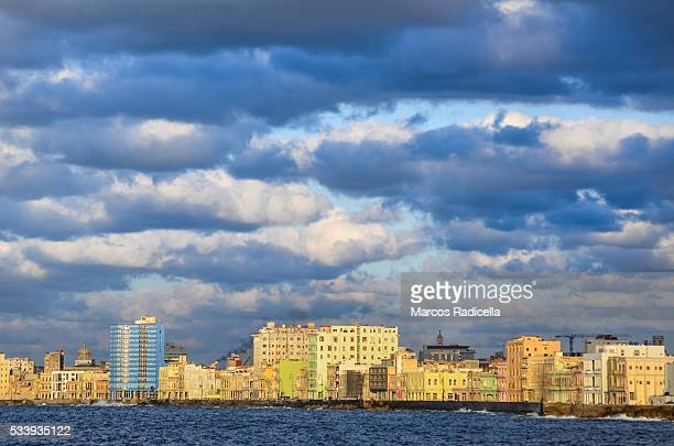 havana skyline at sunset - radicella stock pictures, royalty-free photos & images