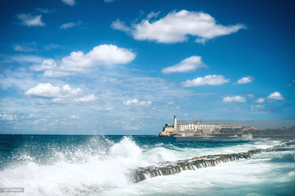 Havana Waterfront at Malecon, Cuba : Stock Photo