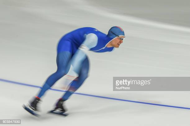 Havard Lorentzen of Norway at 1000 meter speedskating at winter olympics Gangneung South Korea on February 23 2018