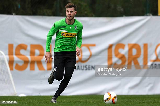 Havard Nordtveit during a training session on day 5 of the Borussia Moenchengladbach training camp on January 11 2016 in Belek Turkey