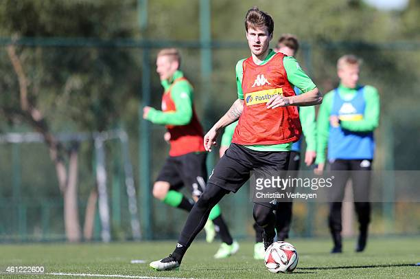 Havard Nordtveit of Borussia Moenchengladbach during a training session on day two of Borussia Moenchengladbach training camp on January 9 2015 in...