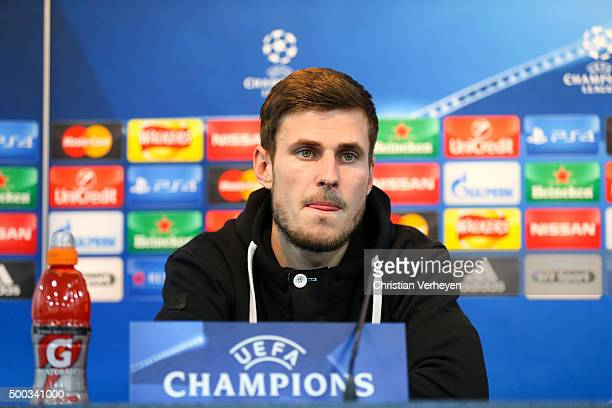 Havard Nordtveit of Borussia Moenchengladbach during the press conference on the eve of the UEFA Champions League group D match against Manchester...