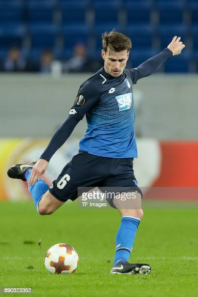 Havard Nordtveit of Hoffenheim controls the ball during the UEFA Europa League group C match between 1899 Hoffenheim and PFC Ludogorets Razgrad at...