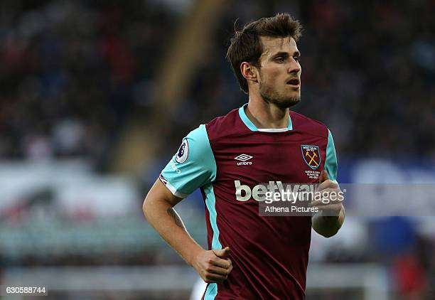 Havard Nordtveit of West Ham United during the Premier League match between Swansea City and West Ham United at The Liberty Stadium on December 26...