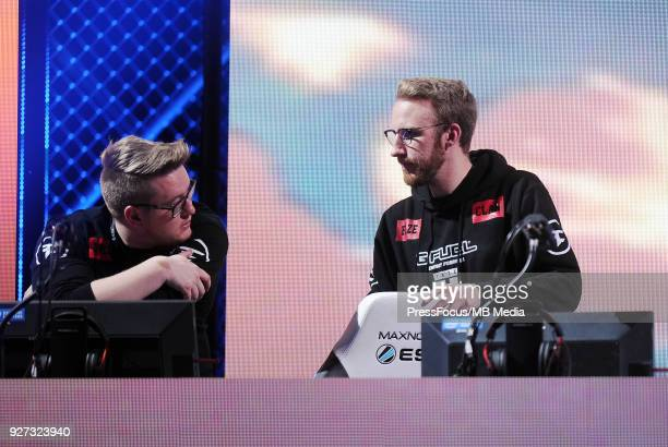Havard Nygaard and Olof olofmeister Kajbjer during CounterStrike Global Offensive quarterfinal game between Cloud9 and FaZe Clan on March 2 2018 in...