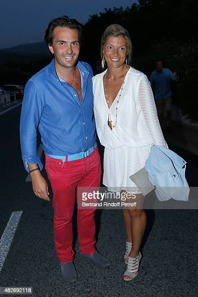 Havas Yannick Bollore and his wife Chloe attend the 'Madame Foresti' show of Humorist Florence Foresti during the 31th Ramatuelle Festival Day 1 on...